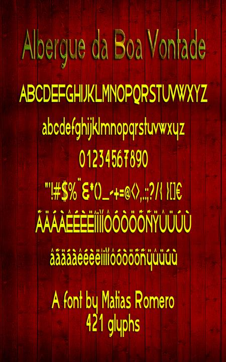 Image for AlbergueBoaVontade font
