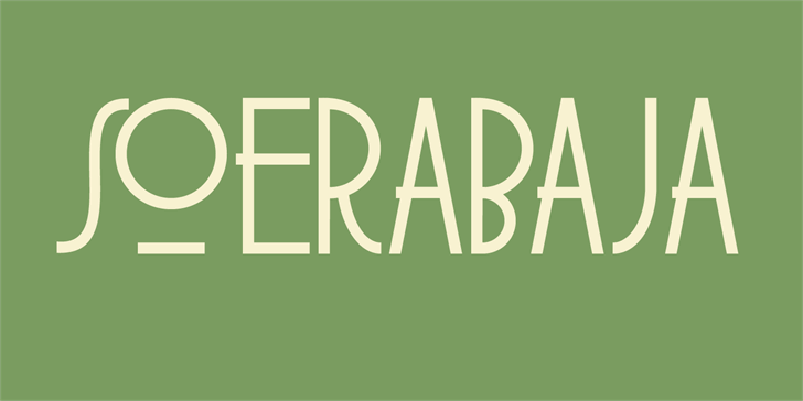 DK Soerabaja font by David Kerkhoff