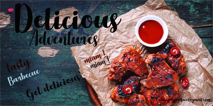 Delicious Adventures font by Foundmyfont Studio Typeface LTD