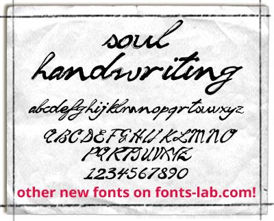Image for soul handwriting_free-version font