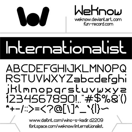 Image for internationalist font