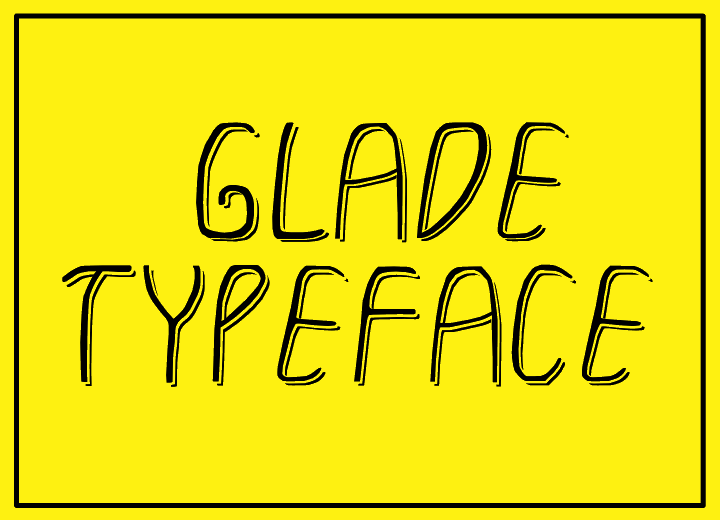 Image for GLADE TYPEFACE font