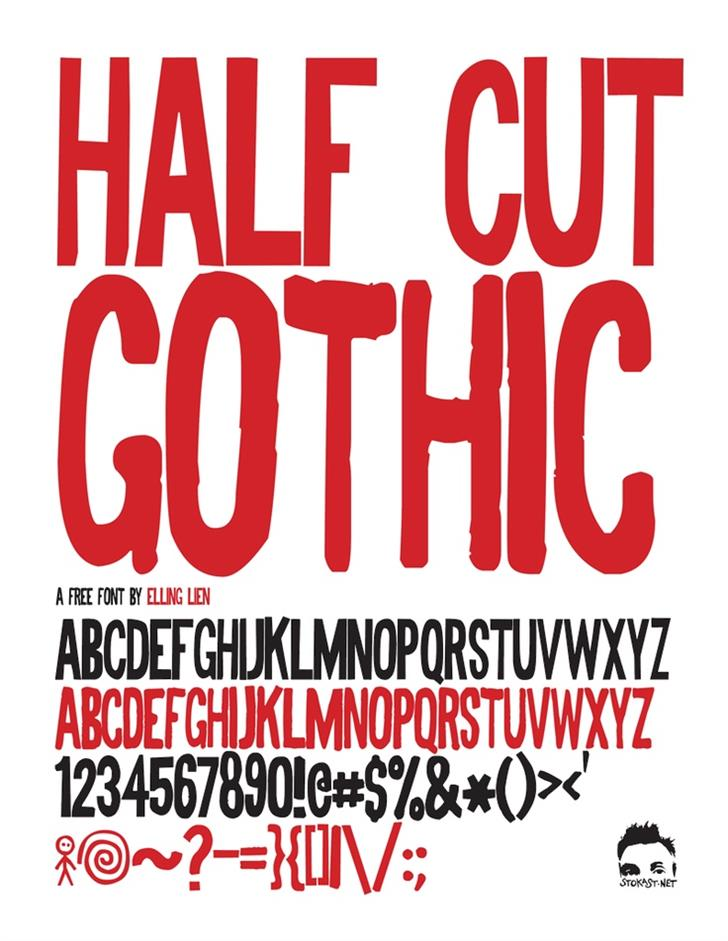 Half Cut Gothic font by Elling Lien