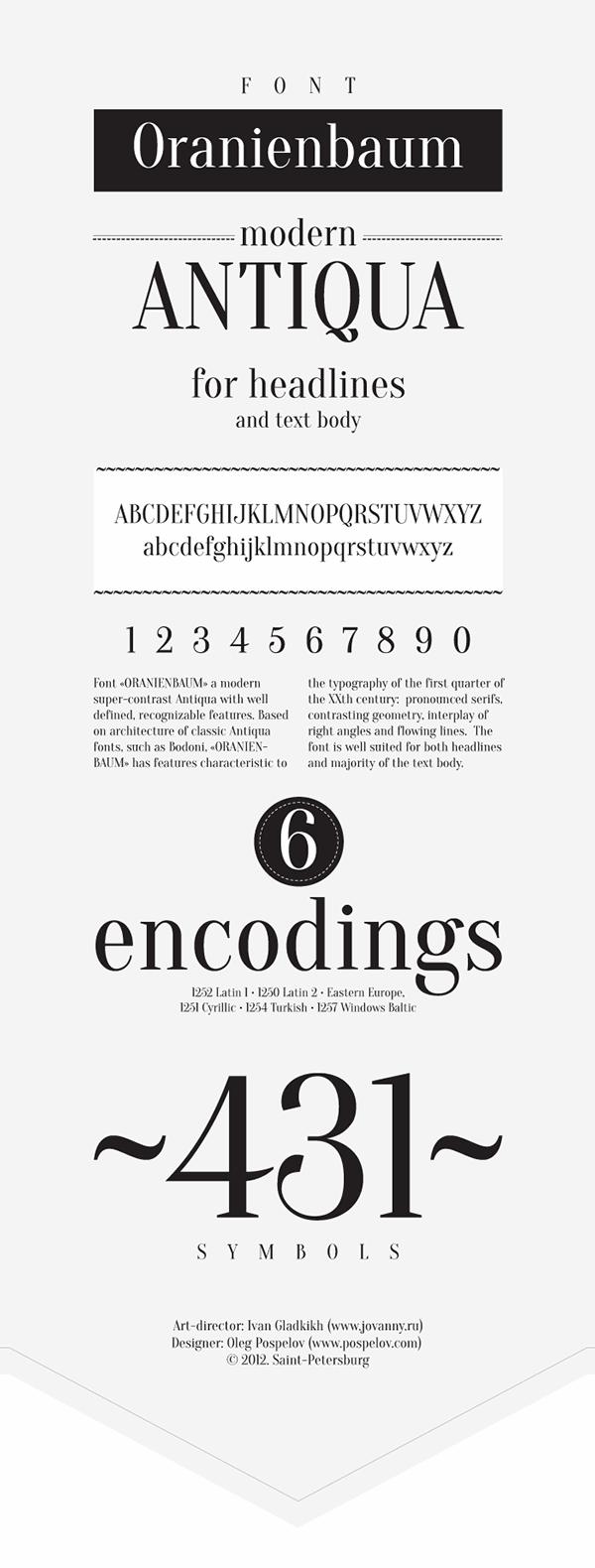 Image for Oranienbaum font