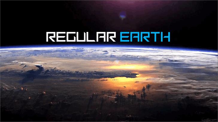 Image for Regular Earth font