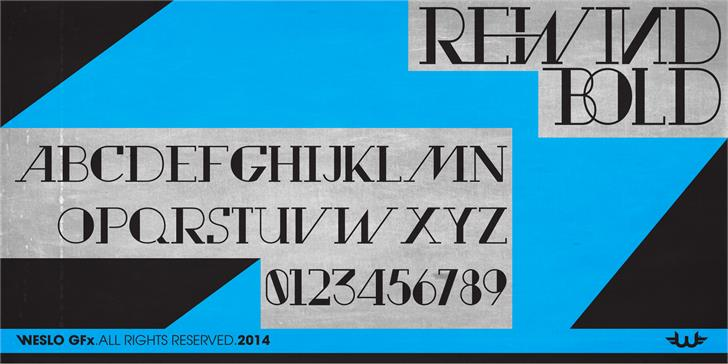 Rewind font by weslo