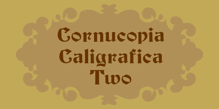 Image for Cornucopia Caligrafica Two font