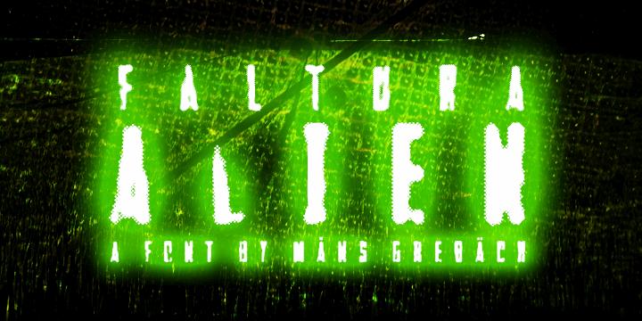 Image for Faltura Alien font