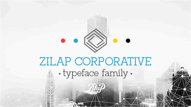 Zilap Corporative font by LJ Design Studios