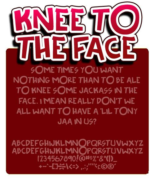 Image for Knee to the face font
