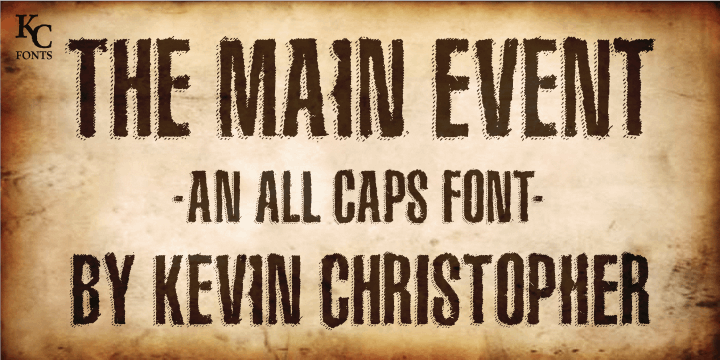 Image for The Main Event font