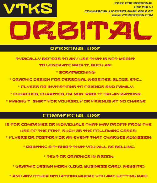 Image for VTKS ORBITAL font