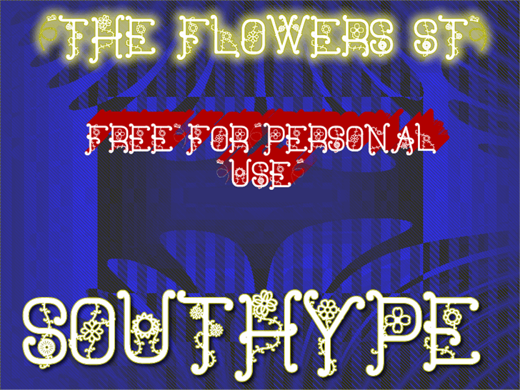 Image for The Flowers St font