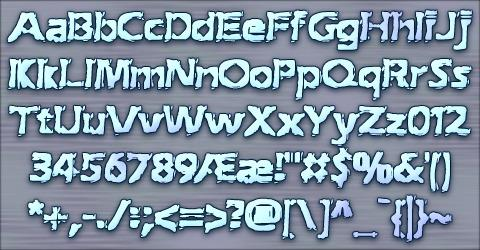 Image for Extraction BRK font