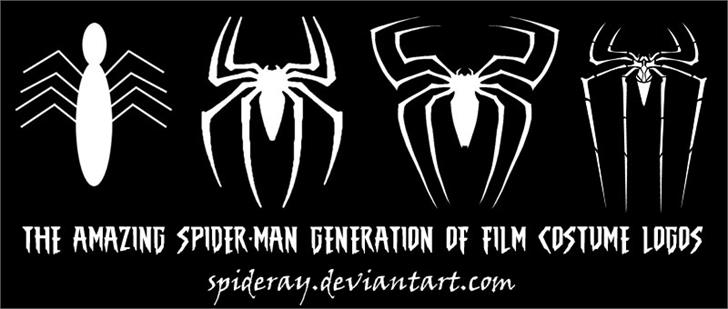 Image for THE AMAZING SPIDER-MAN font