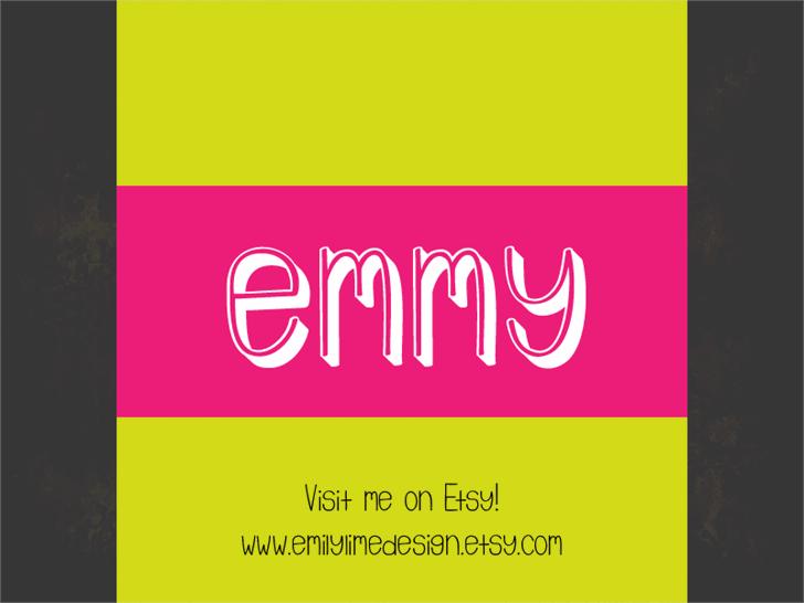 Image for Emmy 3D font