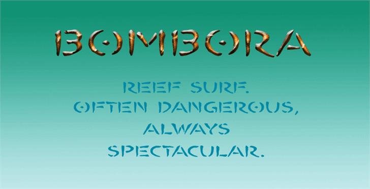 Image for BOMBORA font