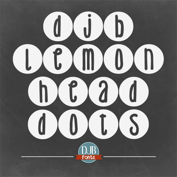 Image for DJB Lemon Head Dots font