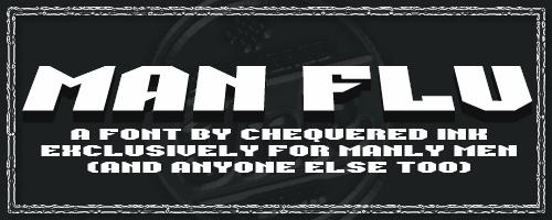 Image for Man Flu font