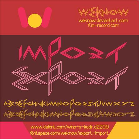 Image for EXPORT import font