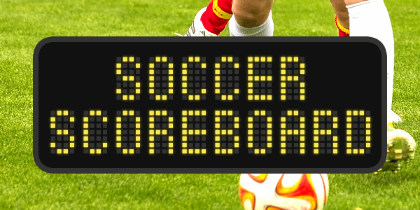 Soccer Scoreboard font by Chequered Ink