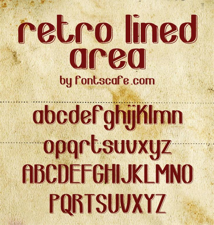 Retro Lined Area_demo-version Font By FontsCafe