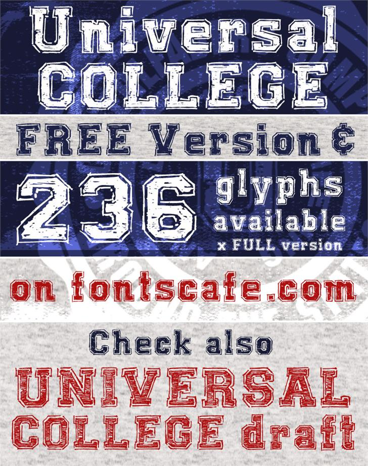 Image for UNIVERSAL-COLLEGE font