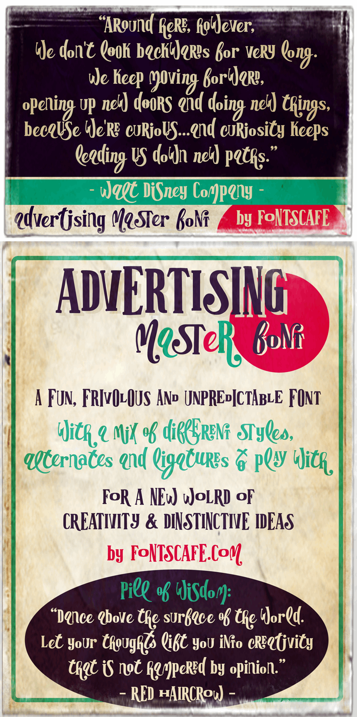 Advertising Master LIGHT versio font by FontsCafe