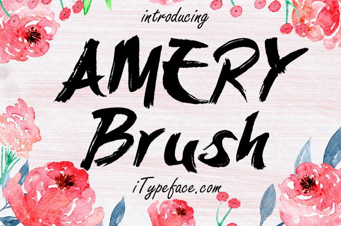 Image for AmeryBrush font