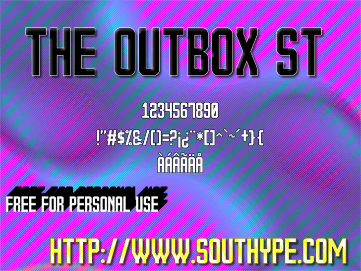 Image for The Outbox St font