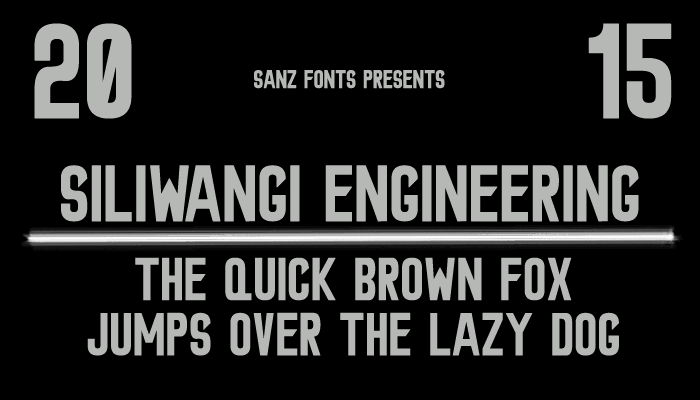 Image for Siliwangi Engineering font