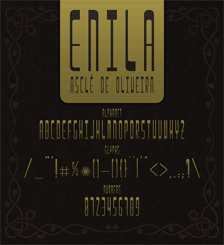 Image for Enila font