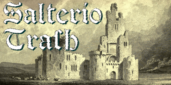 Salterio Trash font by Intellecta Design