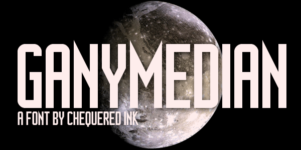 Ganymedian font by Chequered Ink