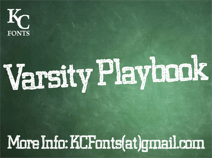 Image for Varsity Playbook font