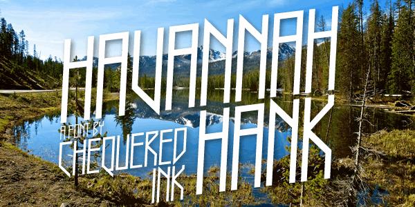 Image for Havannah Hank font