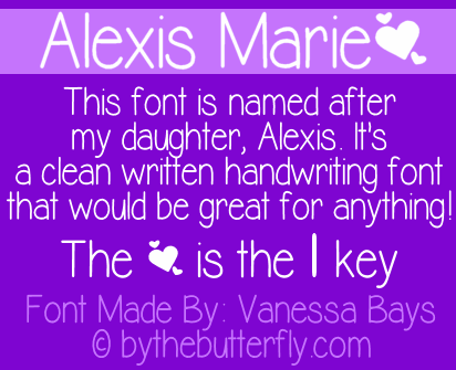 Alexis Marie font by ByTheButterfly