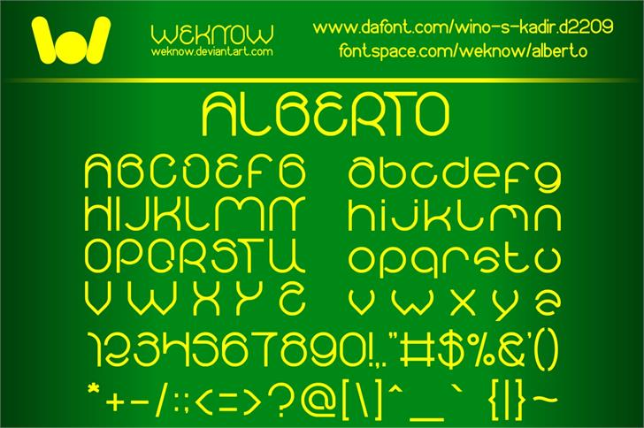Image for alberto font