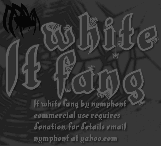 Image for LT White Fang font