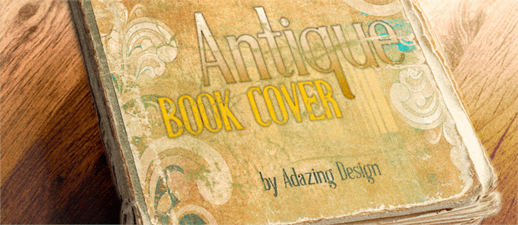 Image for Antique Book Cover Regular font