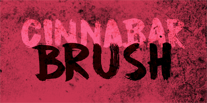 DK Cinnabar Brush font by David Kerkhoff