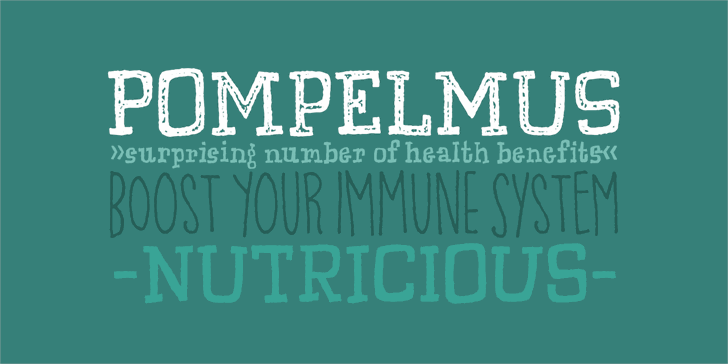 Image for Pompelmus Sweet DEMO font