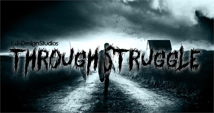 Image for Through Struggle font