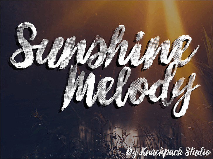 Sunshine_Melody font by knackpackstudio