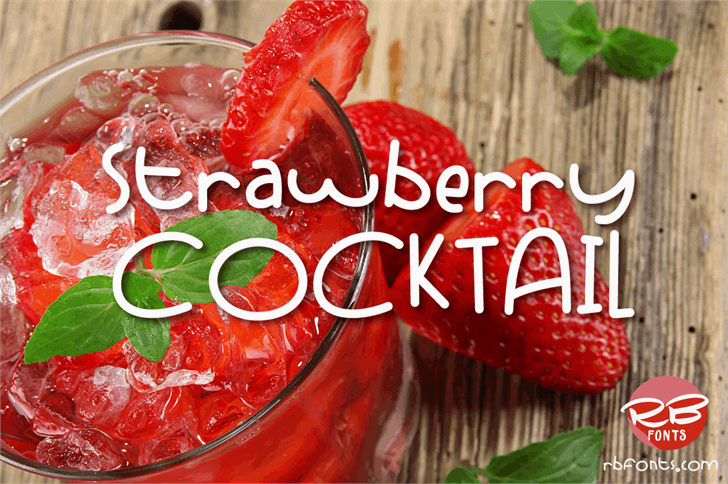 Strawberry Cocktail font by RB Fonts