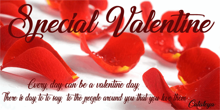 Image for Special Valentine font