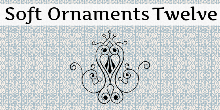 Image for Soft Ornaments Twelve font