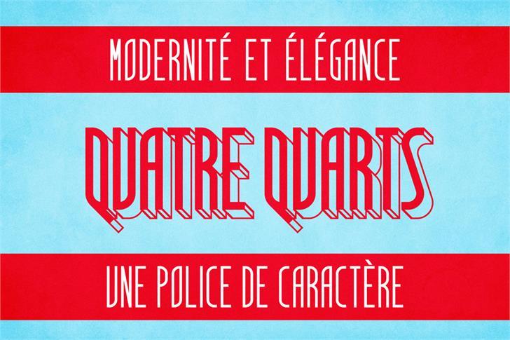 Image for Quatre Quarts font