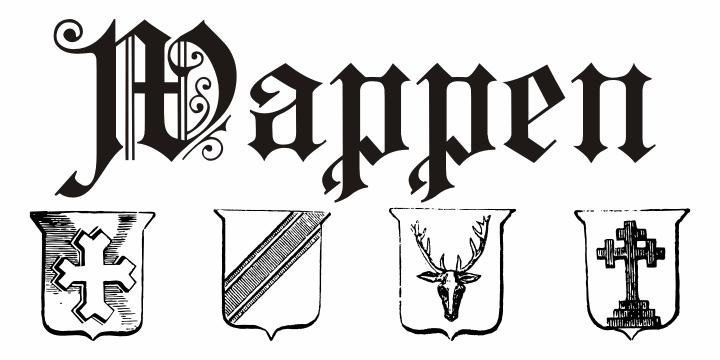 Image for Wappen font