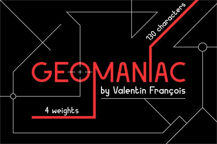Image for Geomaniac font